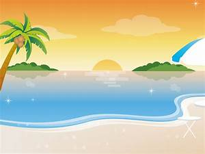 Cartoon Beach Scene Clip Art clipart