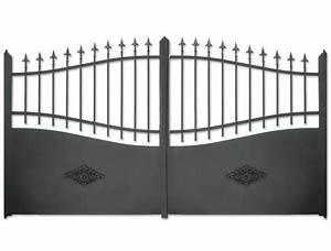Portail Alu Battant 3m50 : portail alu battant 3m50 portail coulissant alu gris ~ Dailycaller-alerts.com Idées de Décoration