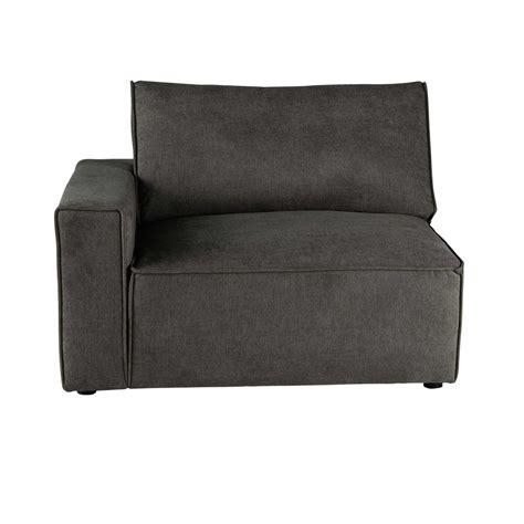 accoudoir de canapé accoudoir gauche de canapé en tissu taupe grisé malo