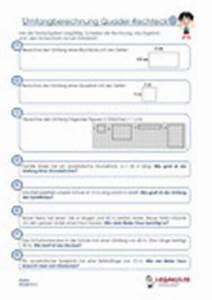 Seitenlänge Quadrat Berechnen : bungen umfangsberechnung textaufgaben quadrat rechteck ~ Themetempest.com Abrechnung