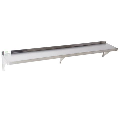 stainless steel solid kitchen shelving regency 18 gauge stainless steel 12 quot x 84 quot solid wall shelf
