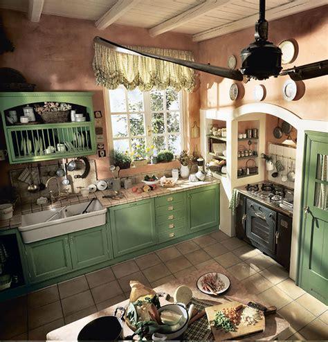 mobili country chic 20 foto di cucine country chic per uno stile romantico e