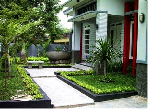 taman depan rumah minimalis lahan sempit sakti desain