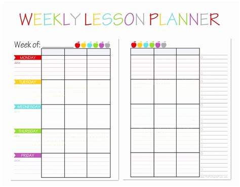 10 weekly lesson plan templates for elementary teachers 10 weekly lesson plan templates for elementary teachers