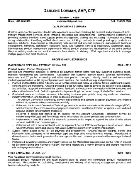 Technical Product Manager Resume by Project Manager Resume Format Resume Profile Statement For