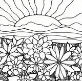Coloring Flower Pages Garden Printable Flowers Sheets Sheet sketch template