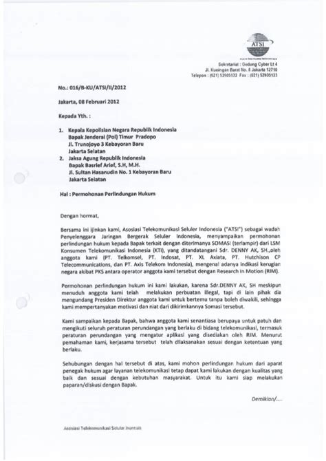 contoh surat pengaduan perlindungan hukum surat dari atsi permohonan perlindungan hukum feb 12