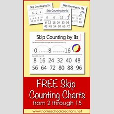 Skip Counting Charts From 2 Through 15 Printable  Count, Skip Counting And Charts