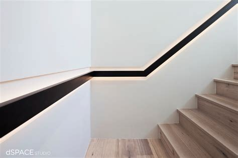 Continious Blackened Steel Handrail Contemporary