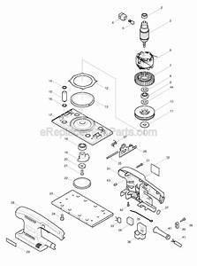 Makita Bo3700 Parts List And Diagram   Ereplacementparts Com