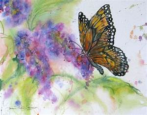 151 best Butterfly and flower paintings images on ...