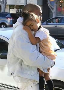 Kim Kardashian shares photo of Kanye West and North ...