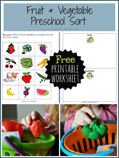 preschool fruit  vegetable sort  heart crafty
