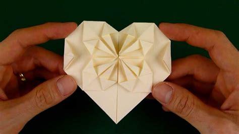 fold  origami heart   starburst pattern