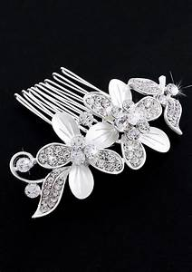 Charms Shine Bride Diamond Hair Comb Prom Party Wedding