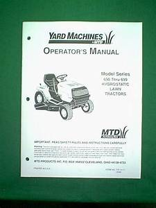 Mtd Yard Machine Tractor Series 690