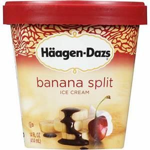 Haagen-Dazs Banana Split Ice Cream, 14 fl oz - Walmart.com