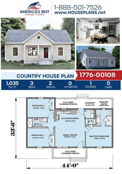 House Plan 1776 00108 Country Plan: 1 035 Square Feet 3