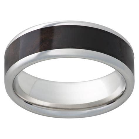 cobalt chrome ring mm  african black wood inlay ccp