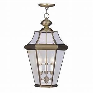 Livex light med outdoor pendant lighting fixture solid