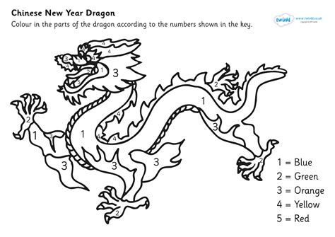 Chinese Dragon Coloring Page Bubakidscom