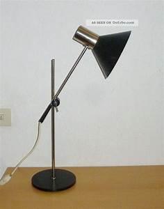 Lampe Metall Schwarz : 50er 60er jahre stehlampe tischlampe staff lampe spot lamp ~ Articles-book.com Haus und Dekorationen