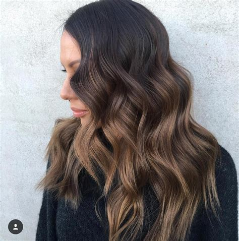 Dark Brown Hair With Light Brown Balayage Hairstyles In