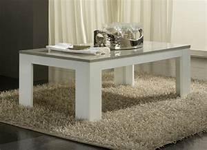Table Grise Et Blanche : table basse pisa laquee bicolore blanc gris blanc gris ~ Teatrodelosmanantiales.com Idées de Décoration