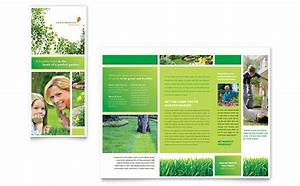 lawn mowing service brochure template word publisher With product brochure template word