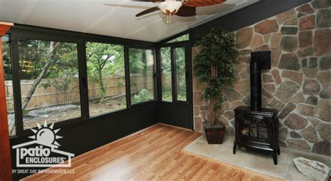 fire place in sun room sunrooms with fireplaces ideas pictures