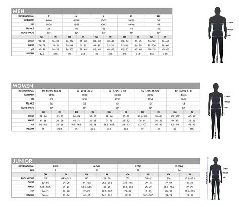 scott clothing size chart bikes  gear