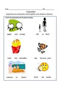 Conjunction Worksheets Grade 3