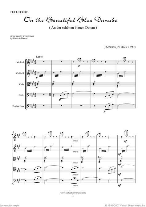 jr the blue danube sheet for string quintet