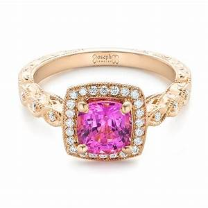 custom rose gold and pink sapphire engagement ring 102285 With pink sapphire wedding rings