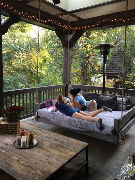 love    porch big   fit  swing bed