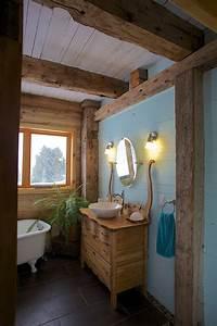 salle de bain rustique bois de grange pinterest With salle de bain rustique