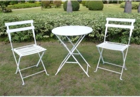white 3 folding metal bistro furniture set contemporary outdoor pub and bistro sets