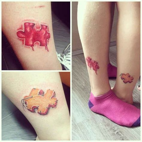 Tatouage Couple Puzzle