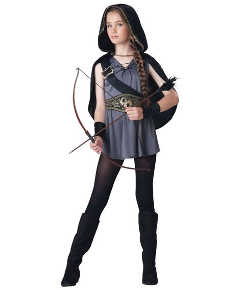 matching printed hooded top hooded huntress costume costumes
