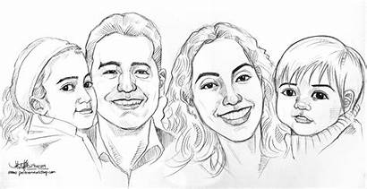Drawing Pencil Portrait Sketch Simple Caricature Coloring