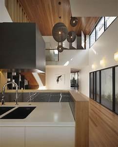 Interior: Hot Modern Open Floor Kitchen Decoration Using