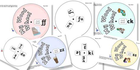 Phonics Digraph Word Wheel Pack (ssffllzzck) Phoncs