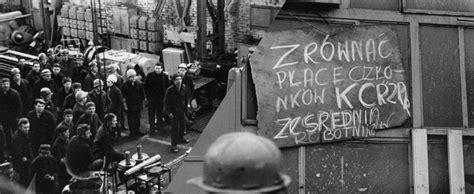 december   polish workers revolt threatened