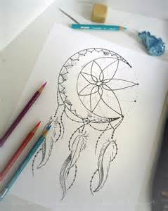 Moon Coloring Pages Dream Catcher Tattoo