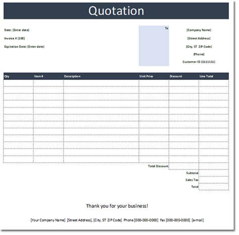 general quotation template  estimate  quote templates