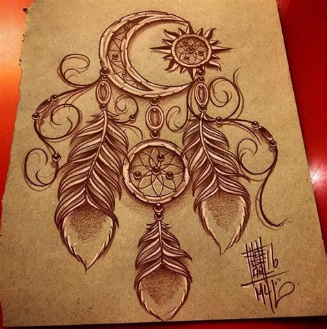 moon  sun dreamcatcher tattoo ideas tattoos tattoo