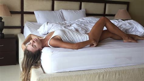 How To Be Sexier In Bed by Beautiful Poses On Bed Stock Footage