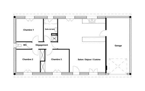 maison 3 chambres plan maison simple 3 chambres maison moderne