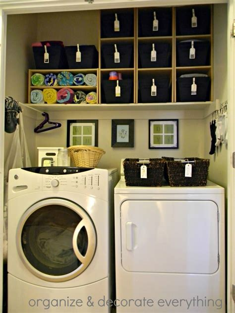organizing a small laundry room organized space of the week laundry closet a bowl full of lemons