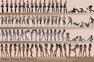 SEmotion: SEmotion Static Female Poses FullPack 3 - 100 ...